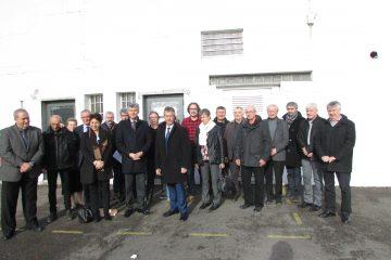 Groupe visite President CG71