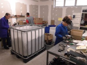 Notre équipe de recyclage du matériel informatique